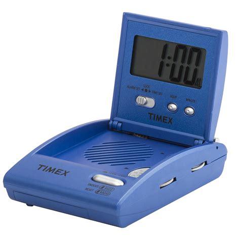timex travel alarm clock radio with snooze focus