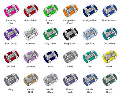 the gallery for gt orthodontist braces colors