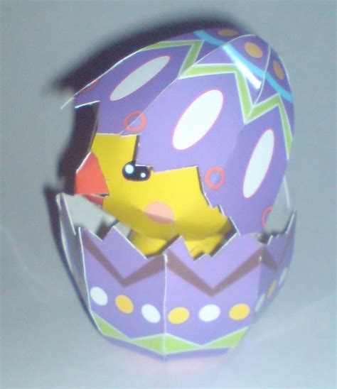 Papercraft Chicken - easter chicken papercraft 2 by moonfishz on deviantart