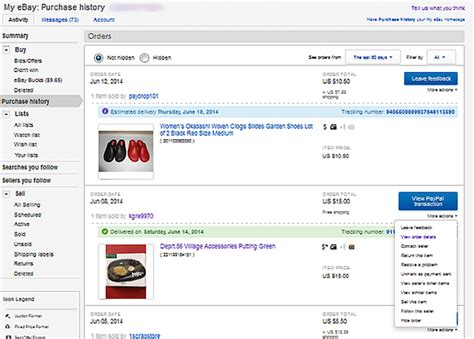 ebay purchase history how to view use and delete your ebay purchase history