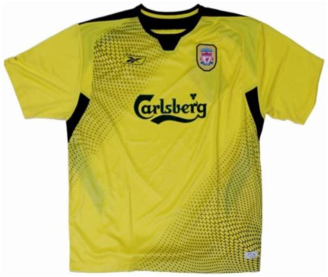 liverpool jerseys 2004 2005 yellow and black away jersey picture