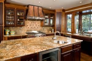 delightful Best Countertops For Kitchen #1: brown-classic-wooden-kitchen-cabinets-cream-classic-granite-countertops-modern-sink-brown-classic-wooden-cabinets-base-cream-classic-ceramic-backsplash.jpeg