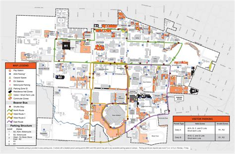 map of oregon colleges osu beaver finance and administration oregon state