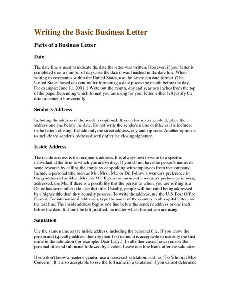 business letters language business letter writing sle the letter sle