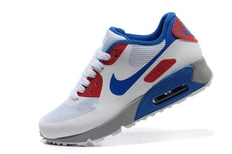 cheap nike air max 90 hyperfuse white blue shoes for
