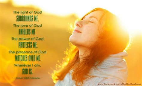 the light of god surrounds me the of god enfolds me