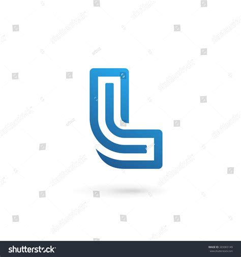 design l letter l logo icon design template stock vector 265065149