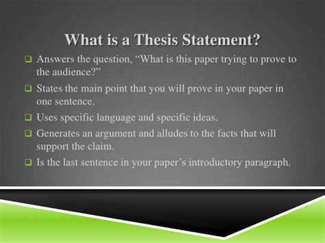 writing a thesis statement middle school thesis statement exles for middle school driverlayer