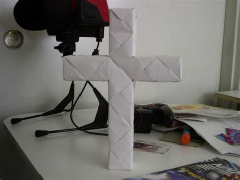 How To Make A Paper Cross - origami cross by origamidude on deviantart