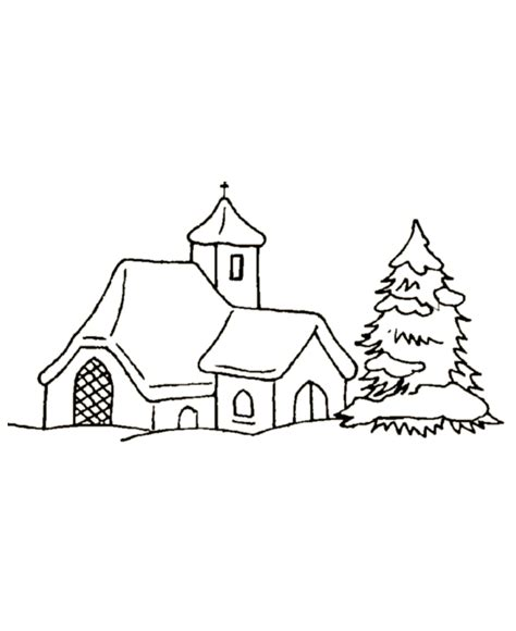 lone tree coloring page christmas coloring pages church archives kids coloring