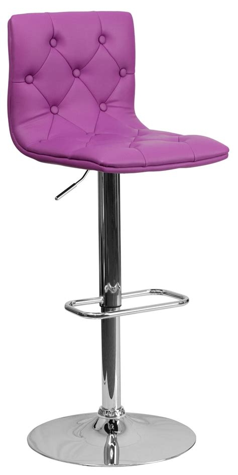 Purple Counter Height Bar Stools by Tufted Purple Adjustable Height Bar Stool From Renegade