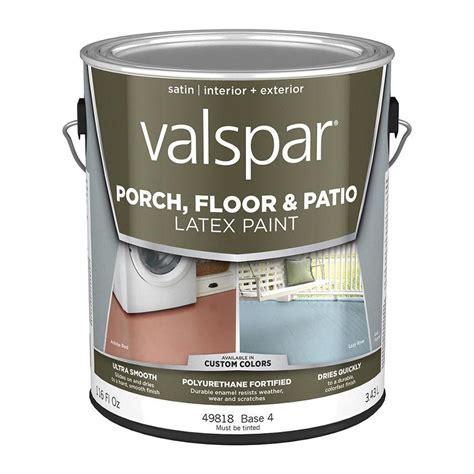 shop valspar base 4 tintable satin interior exterior porch