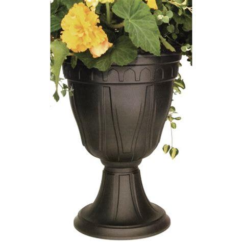 Dcn Plastic 1420bk Tall Azura Urn Planter Black Home Black Urn Planter