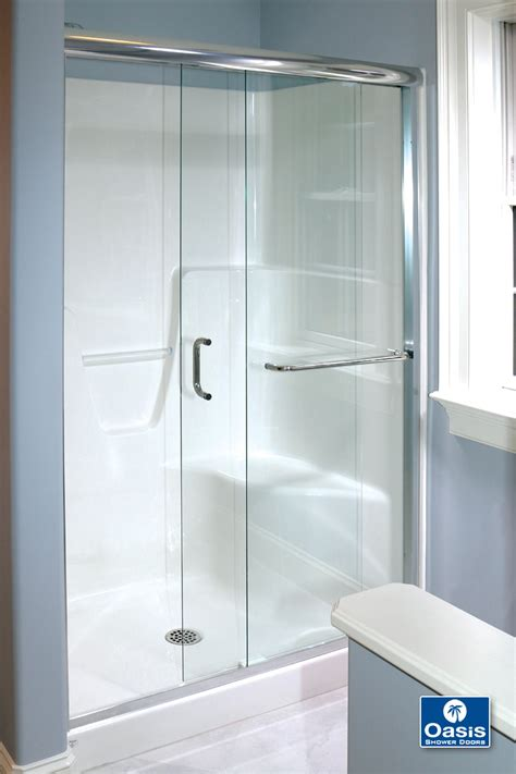 Bypass Shower Doors Frameless Frameless By Pass Sliding Shower Doors Oasis Shower Doors Boston Ma