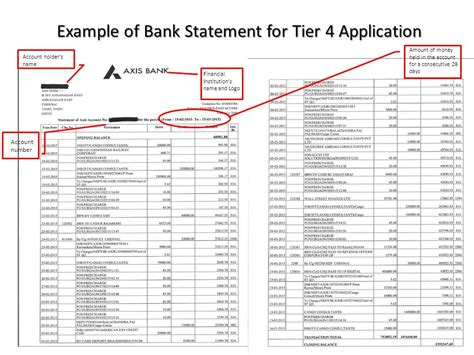 Electronic Bank Statement And Supporting Letter Tier 4 Visa Maintenance Requirements Ppt