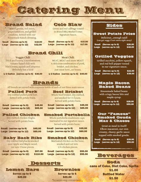 banquet menu layout best 25 catering menu ideas on pinterest catering