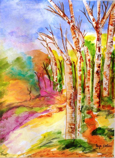 water painting easy watercolor drawings