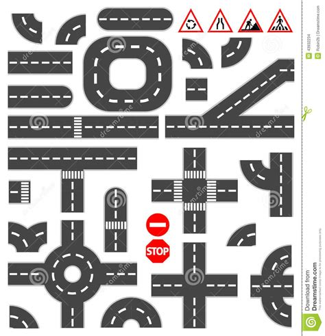 creative road design elements vector road elements stock vector image of constructor highway