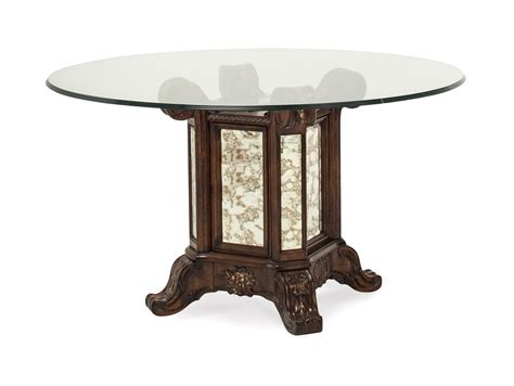 54 dining table platine de royale 54 quot glass dining table in light