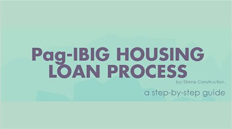pag ibig housing loan procedure high city builders home