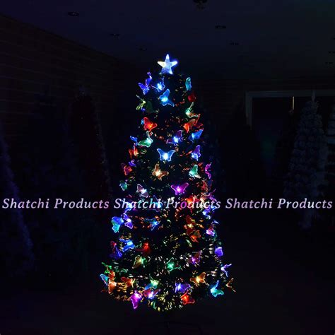 led fibre optic christmas tree pre lit xmas decorative