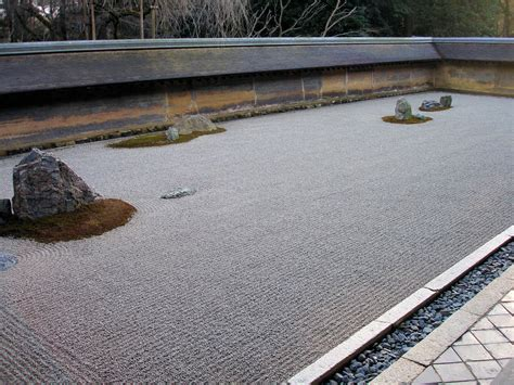 Ryoanji Rock Garden with Ryoanji Garden Design Architecture Decorating Ideas