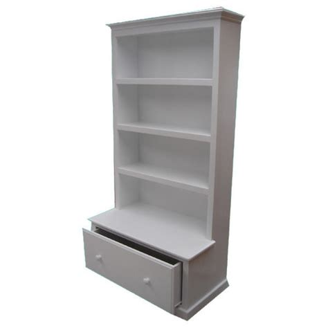 combo bookcase with drawer in white temple webster