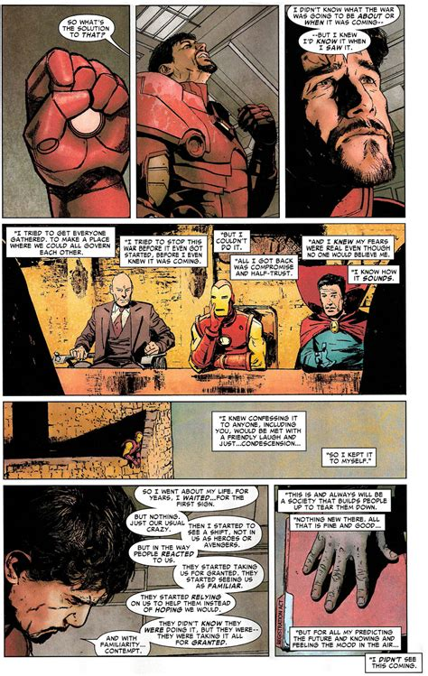 iron man mourns captain america civil war comicnewbies
