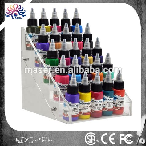 tattoo ink display retail and wholesale acrylic tattoo ink display stand 5