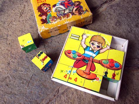 Mainan Kayu Puzzle Kubus mainan garasi opa
