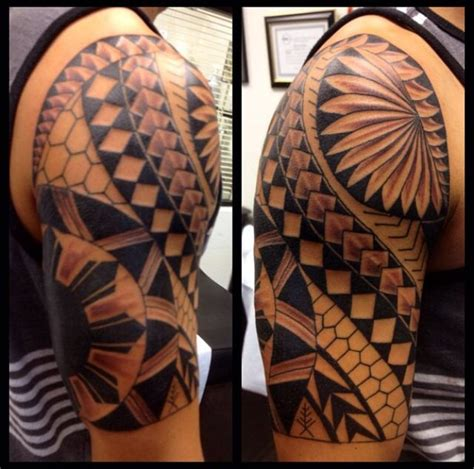 filipino tribal half sleeve tattoo nice ink pinterest