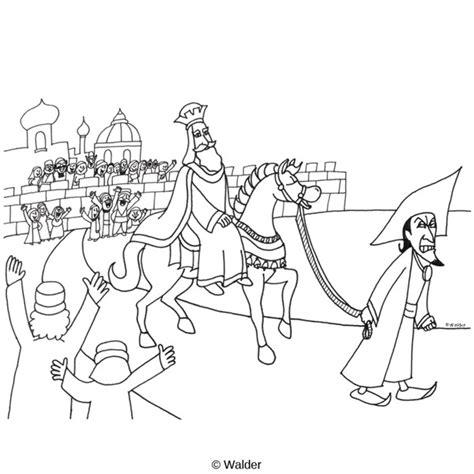 Megillas Esther: Haman Leading Mordechai's Horse   Walder