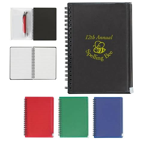Branded Executive Notebooks Promo Offer By Brand - promotional 5x7 spiral notebook with pouch customized