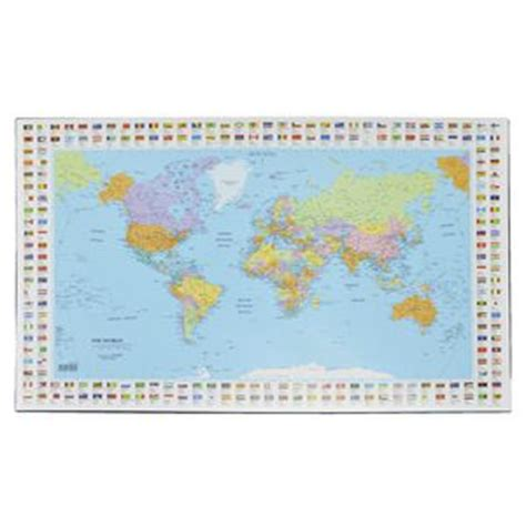 World Map Desk Pad by Bantex Desk Pad Map Of The World Officeworks