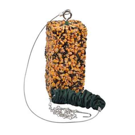 shop garden treasures birdola steel bungee squirrel feeder