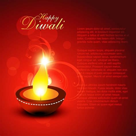 diwali greeting card template free vector of beautiful happy diwali brochure title