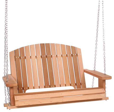contemporary porch swing all things cedar western red cedar pergola swing