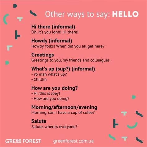 synonyms to the word hello other ways to say hello