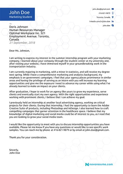 cover letter examples writing tips
