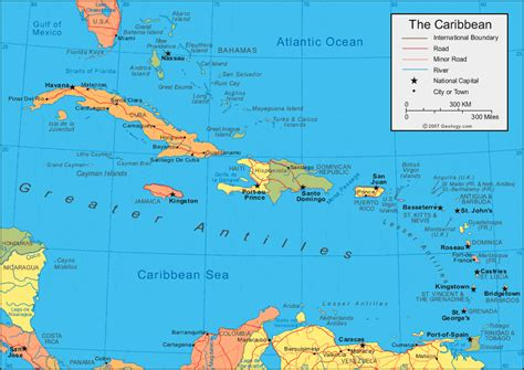map of the caribbean islands caribbean islands map and satellite image
