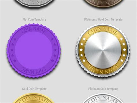 crypto currency coin design template freebie by chris