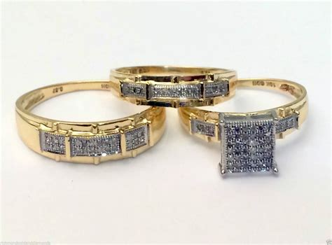 Luxury Collection Of Cheap Wedding Band Sets for Him and