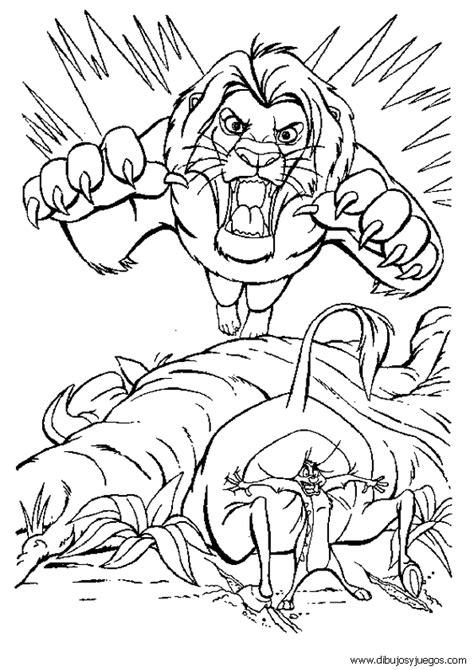 imagenes de leones animados para colorear rey leon disney 128 dibujos y juegos para pintar y colorear
