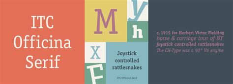 Officina Serif by Itc Officina Serif Fonts
