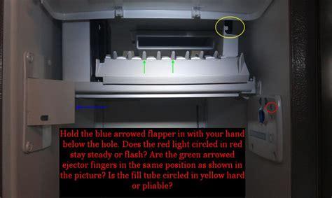 kenmore coldspot 106 ice maker red light blinking i have a blinking red light on my kenmore cold spot
