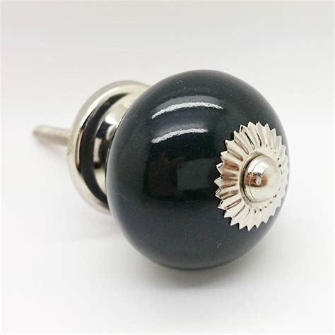 Door Knobs Black by Black Ceramic Door Knobs Cupboard Drawer Pull Handles By G