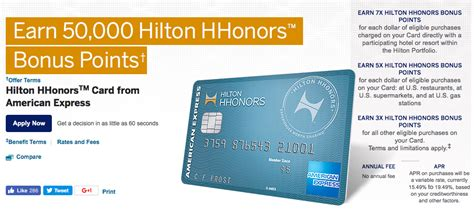 Hilton Hhonors Card From American Express Earn Hotel | 187 american express hilton hhonors rewards card review
