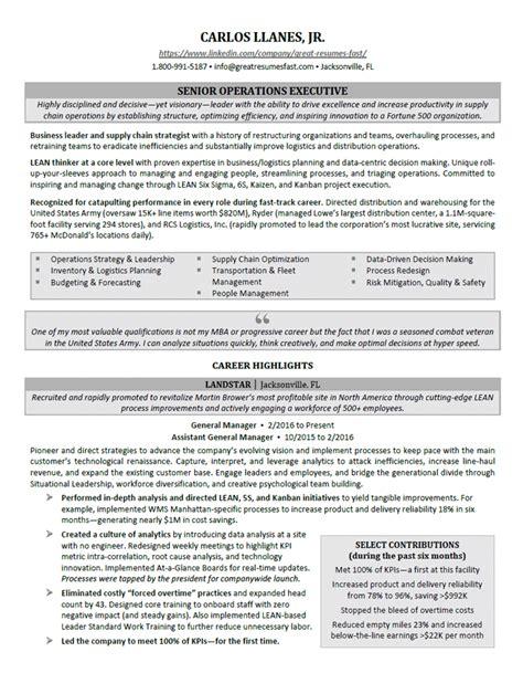 Executive Level Resume by Executive Level Resumes Talktomartyb