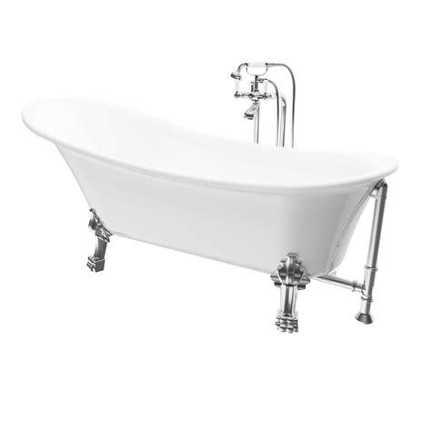 all in one bathtub renwil achilles 69 in acrylic ball and clawfoot slipper non whirlpool bathtub in