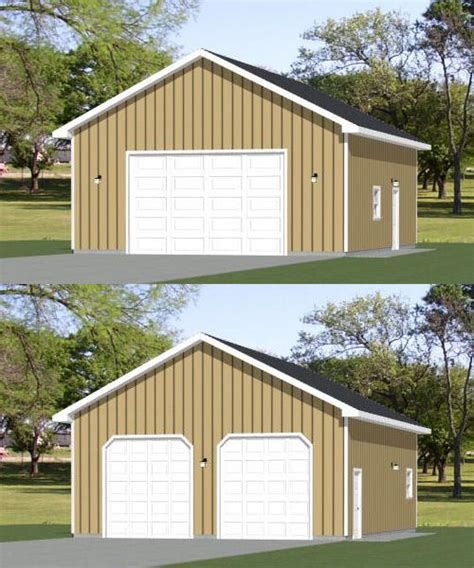 2 car garage sq ft 28x36 2 car garage 28x36g19b 1 008 sq ft
